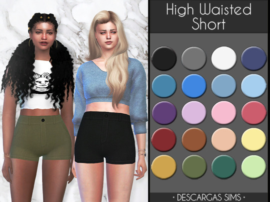 High Waisted Short from Descargas Sims