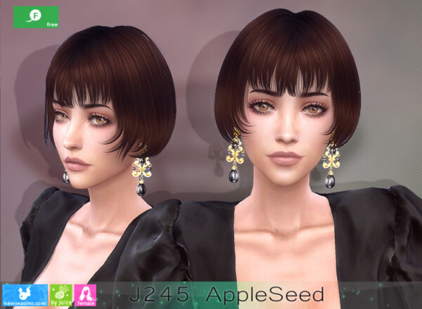 J245 Apple Seeds Hairstyle from NewSea