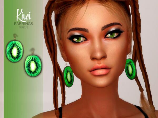 Kiwi Earrings by Suzue from TSR