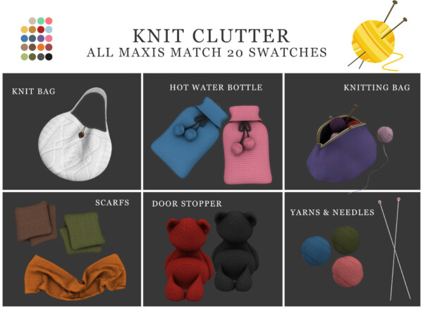 Knit Clutter from Leo 4 Sims