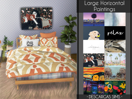 Large Horizontal Paintings from Descargas Sims