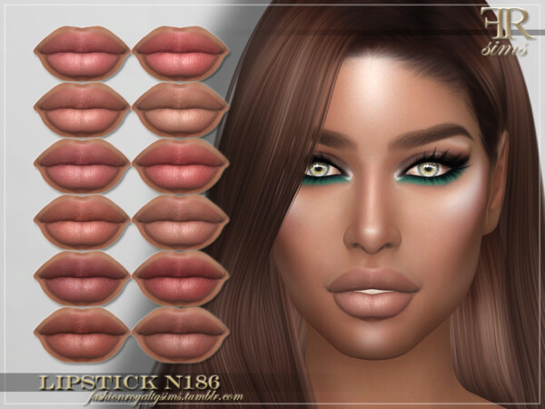 Lipstick N186 by FashionRoyaltySims from TSR