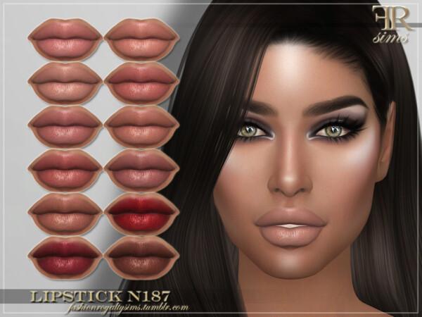 Lipstick N187 by FashionRoyaltySims from TSR
