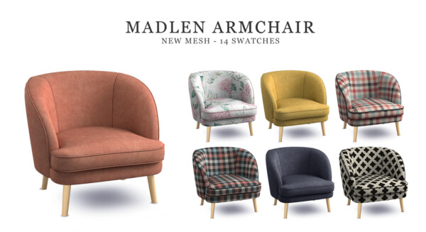 Madlen Armchair from Leo 4 Sims
