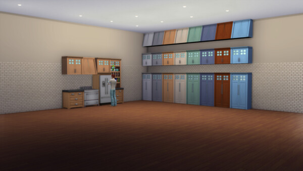 Modern Wooden Cabinet by Novius from Mod The Sims