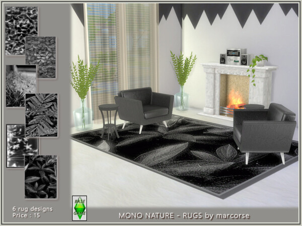 Mono Nature Rugs by marcorse from TSR