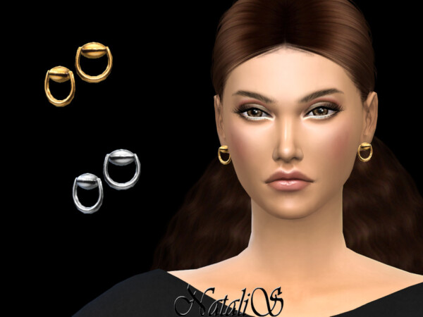Horse bit stud earrings by NataliS from TSR