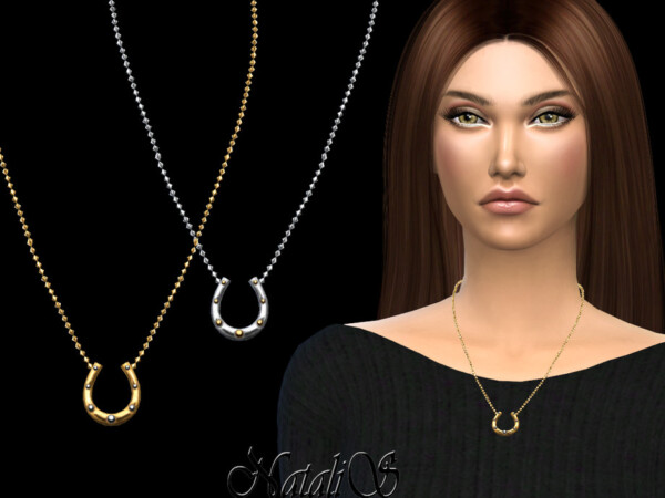 Horseshoe necklace by NataliS from TSR