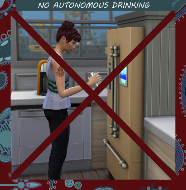 No Autonomous Drinking by Simmiller from Mod The Sims