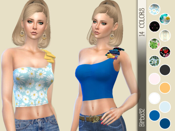 One Shoulder Bow Top by Birba32 from TSR