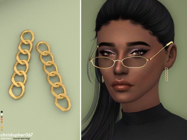 Rascal Earrings by Christopher067 from TSR