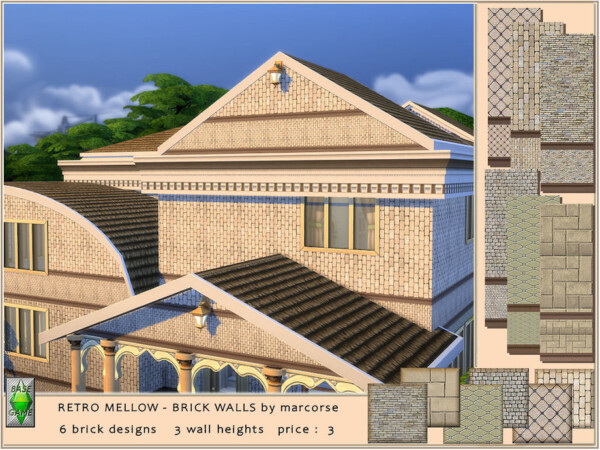 Retro Mellow Brick Walls by marcorse from TSR