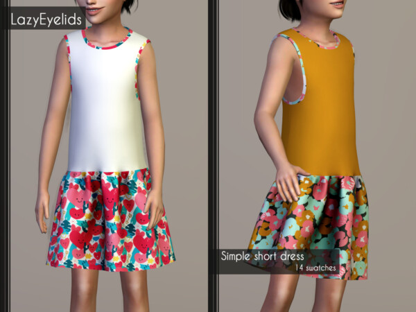 Simple short dress, swimsuit and swimming shorts from Lazyeyelids