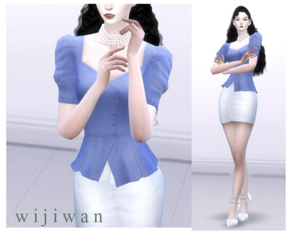 Square puff blouse by wijiwan from TSR
