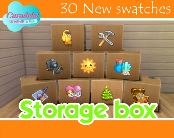 Storage Box 30 New Swatches by Caradriel from Mod The Sims