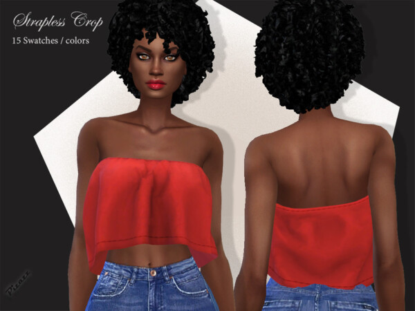 Strapless Crop Top by pizazz from TSR