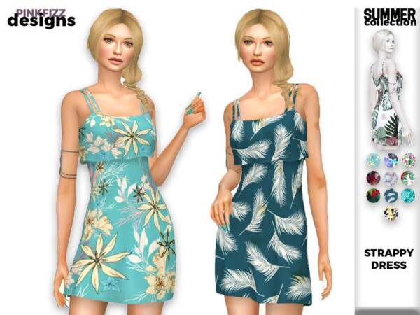 Summer Strappy Dress by Pinkfizzzzz from TSR