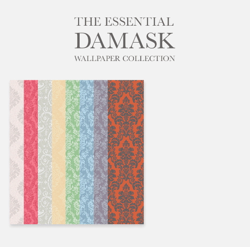 The Essential Damask Wallpaper Collection from Simplistic