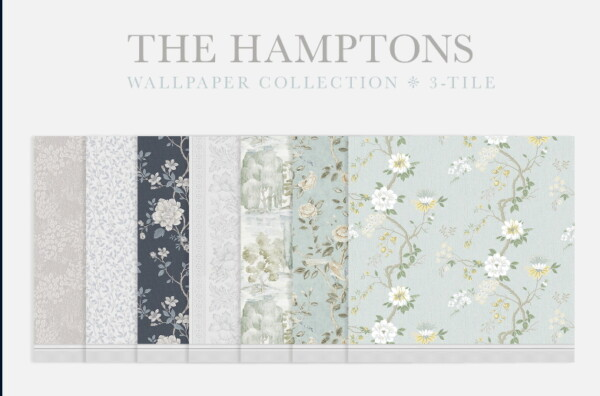 The Hamptons Wallpaper Collection 3 Tiles from Simplistic