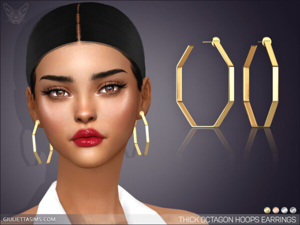 Thick Octagon Hoop Earrings from Giulietta Sims
