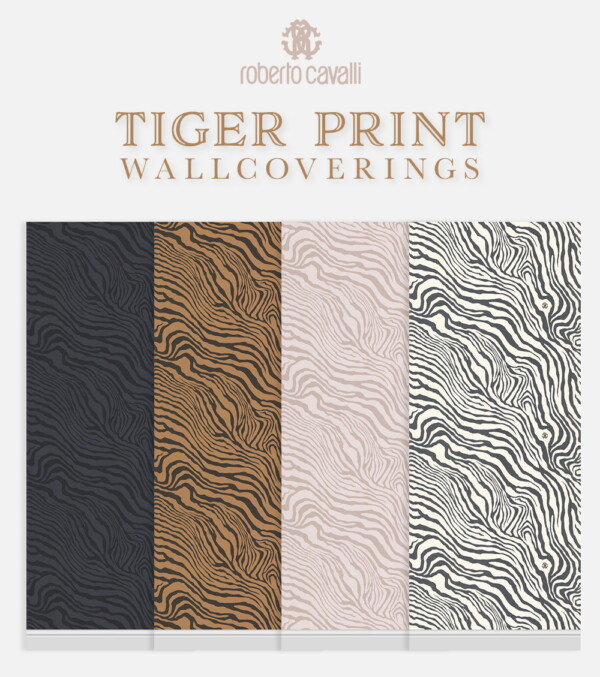 Tiger Print Wallcoverings from Simplistic