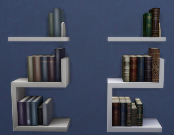High Resolution Intellectual Bookcase Recolor by xordevoreaux from Mod The Sims