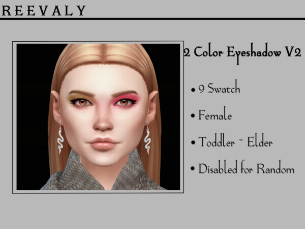 2 Color Eyeshadow V2 by Reevaly from TSR