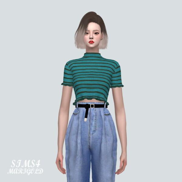 A Heart Lovely Top V2 Short Sleeves V from SIMS4 Marigold