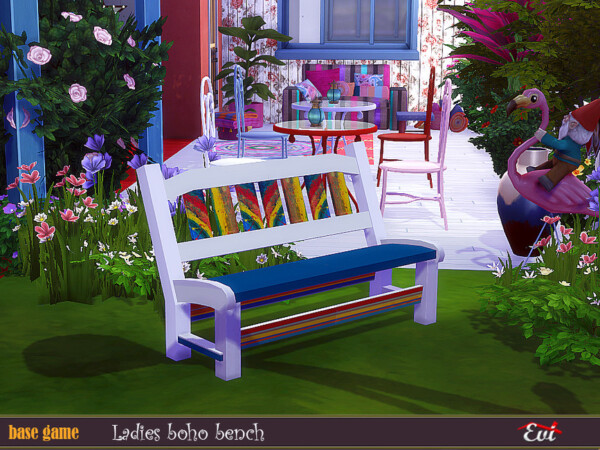 Ladies Boho bench by evi from TSR