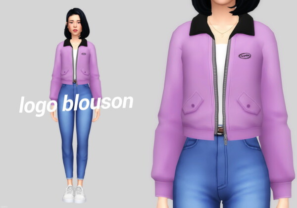 Logo blouson from Casteru
