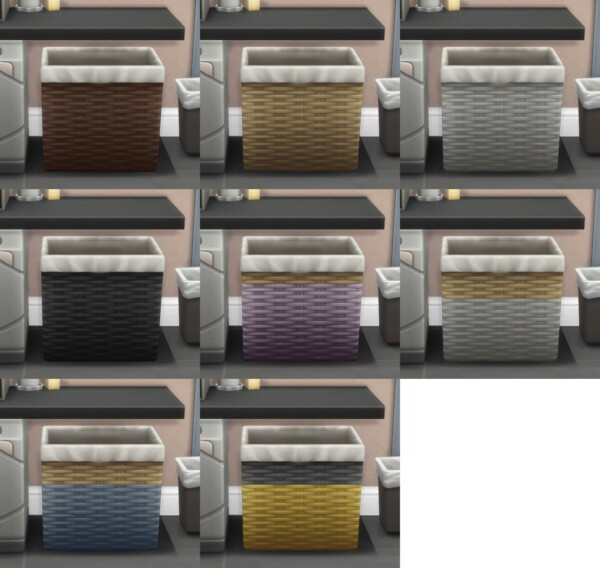 Under Counter Laundry Baskets by Teknikah from Mod The Sims