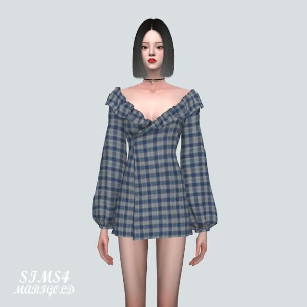 DD Off Shoulder Frill Mini Dress V2 from SIMS4 Marigold
