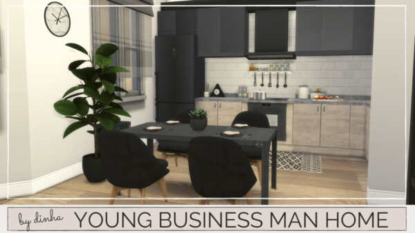 Young business man home from Dinha Gamer