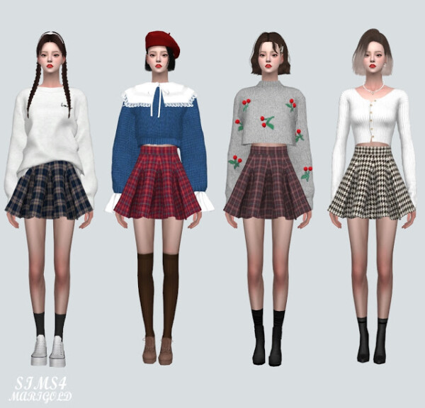 PP Flare Mini Skirt from SIMS4 Marigold