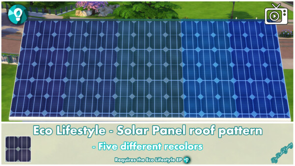 Roof Pattern Solar Panels by Bakie from Mod The Sims