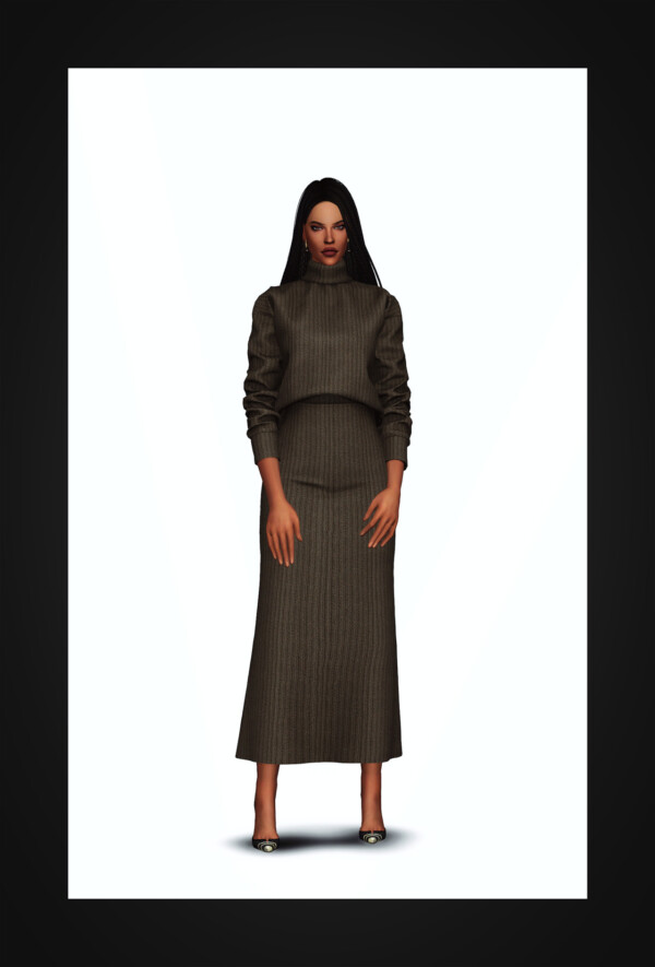 Turtleneck Two Piece Dress from Gorilla