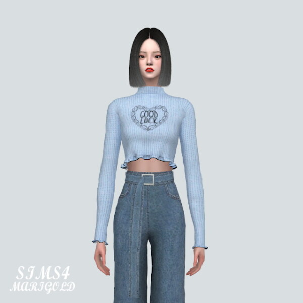 A Heart Lovely Top from SIMS4 Marigold