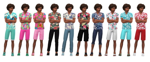 Summer Shirt M from Sims 4 Sue