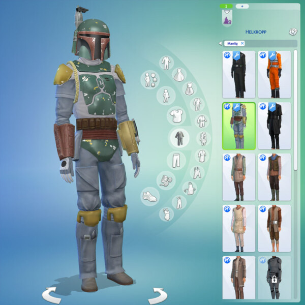Star Wars costumes enabled for GP09 and Batuu by letrax from Mod The Sims