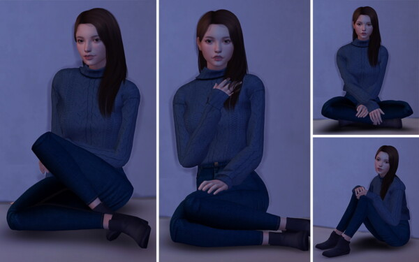 Model Sitting Poses from Lutessa
