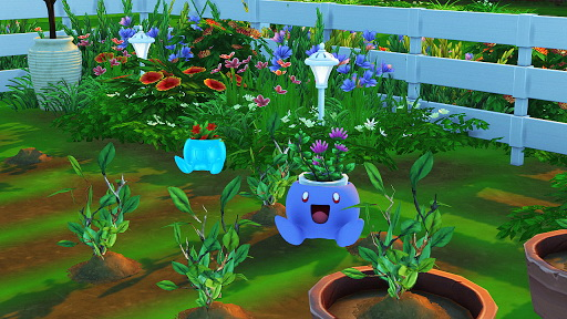 Bulbasaur and Oddish Planter from Red Head Sims