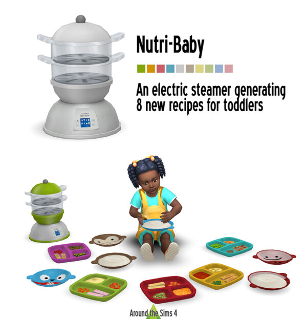 Baby Steamer and Toddler food from Around The Sims 4