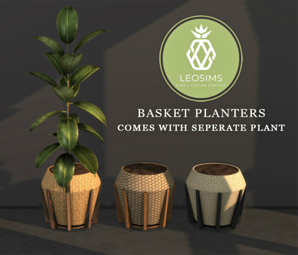 Basket Planters from Leo 4 Sims