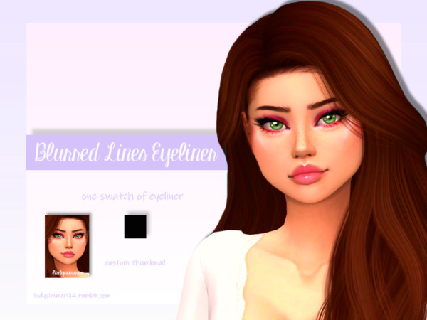 Blurred Lines Eyeliner by LadySimmer94 from TSR
