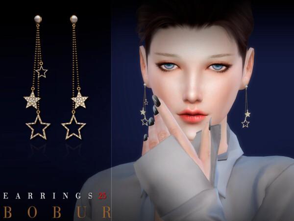 Earrings 25 by Bobur from TSR