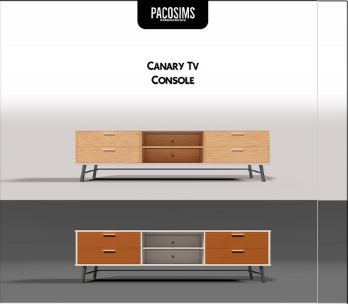 Canary Tv Console from Paco Sims