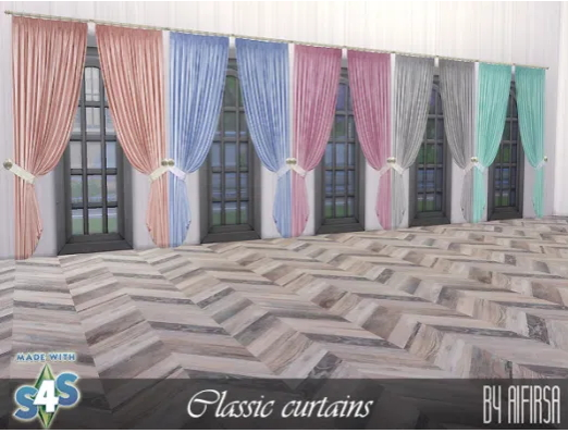 Classic curtains from Aifirsa Sims