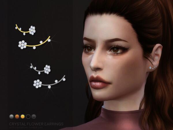 Crystal Flower earrings by sugar owl from TSR