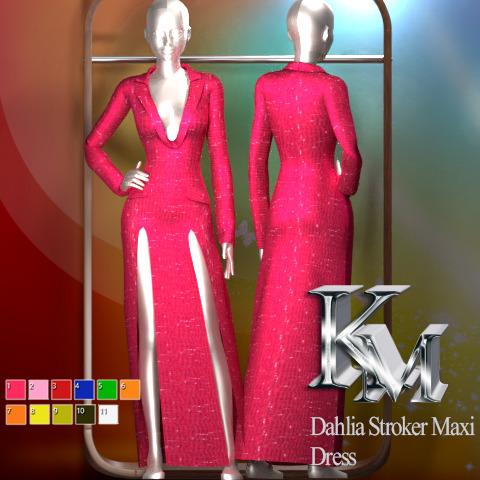 Dahlia Stroker Maxi Dress from KM