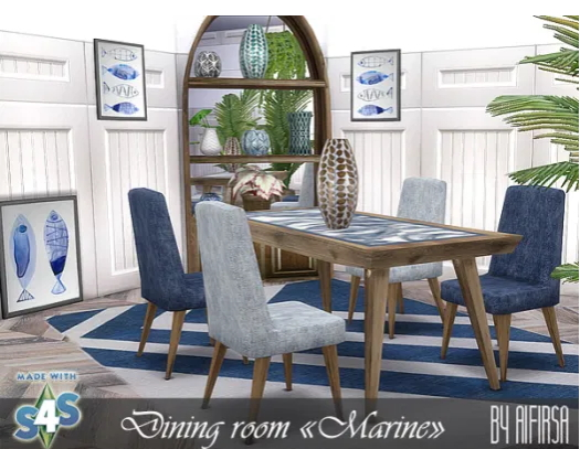 Diningroom furniture from Aifirsa Sims